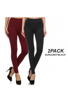 2PACK BASIC FLEECE-LINED SEAMLESS LEGGING#2SS9000