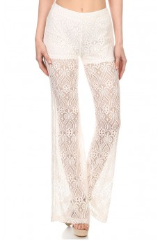 BOHO LACE FLARE PANTS WITH SHORT LINING #6LCP01-03