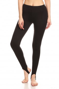 BASIC BRUSH POLY LEGGING WITH STIRRUP#7L86