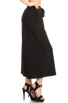 RAYON BORDER PRINTED CULOTTES W/ FRONT SELF WAIST TIE#8CLT03