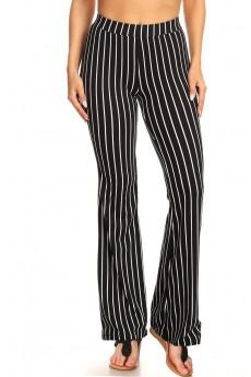 BLACK/WHIET STRIPE PRINT FLARE PANTS#8FP01-1000