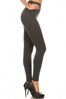 HIGH WAIST RIB FRENCH TERRY SEAMLESS LEGGINGS#8L92