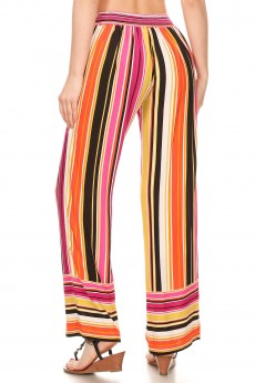 BLACK/WHITE TIE DYE BORDER PRINT STRAIGHT LEG PANTS#8SLP01-BD14