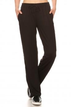 SPORT STRAIGHT TRACK PANTS W/ SIDE STRIPES TWILL TAPE#8STP03-04