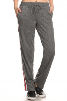 SPORT STRAIGHT TRACK PANTS W/ SIDE STRIPES TWILL TAPE#8STP03-09