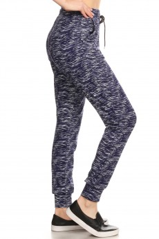 NAVY/WHITE SPACE DYE JOGGER WITH SHOE LACE TIE#8TRK36-12