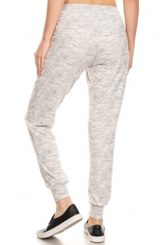 GREY/DARK GREY SPACE DYE JOGGER WITH SHOE LACE TIE#8TRK36-14