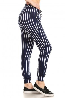 PRINTED STRIPES JOGGER WITH SHOE LACE TIE#8TRK36-SP32B