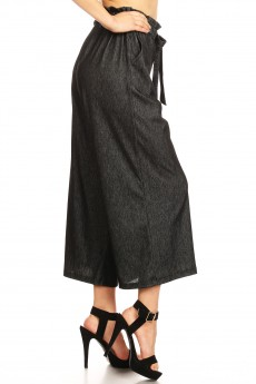 STRETCH DENIM PAPER BAG CULOTTES#9CLT01