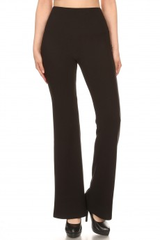 BLACK HIGH WAIST FLARE PANTS#9FP05