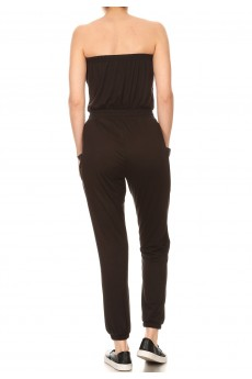TUBE TOP JOGGER W/ SIDE POCKETS JUMPSUIT#9JPS22