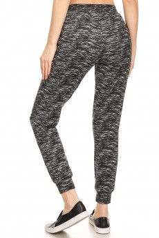 FLEECE LINED PRINTED JOGGER W/ SHOE LACE TIE#9TRK16-SD06