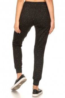 BLK/N.GRN SPACE DYE PRINT FLEECE LINED JOGGER WITH SHOE LACE#9TRK16-SD10