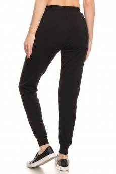 BLACK SIDE POCKET SPORT JOGGER#9TRK22