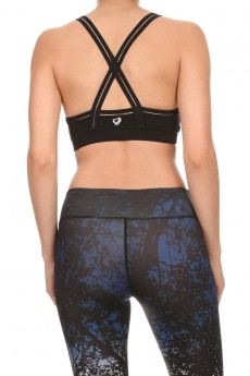 ACTIVE BRA TOP WITH CLEAR MESH TRIM #A6BR09