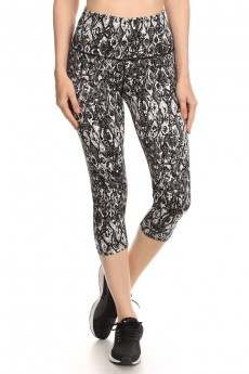 BLACK/GREY ABSTRACT PRINT CAPRIS W/ REFLECTION PANELS #A6CP10-04