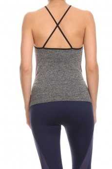 HEATHER GREY/MINT ACTIVE CAMI #ACM15N101