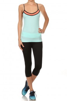 MINT/CORAL ACTIVE CAMI #ACM15N105