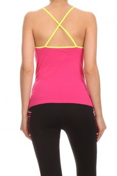 FUCHSIA/NAVY ACTIVE CAMI #ACM15N107