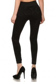 FLOCKING FLEECE LEGGINGS #BQF9002