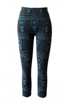 KIDS TRIBAL JACQUARD SEAMLESS FLEECE LEGGING(SIZE:4/6X) #KSJ15FL12