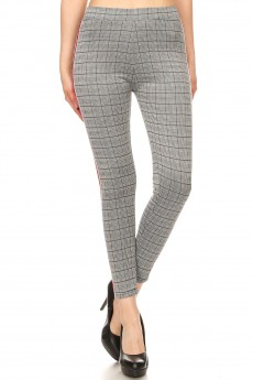 WOVEN STRETCHY LEGGING W/ MESH TAPES#SG80505
