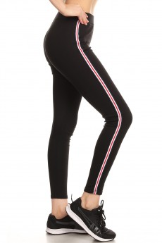 COTTON BLENDED LEGGING W/ COLOR STRIPES TAPES#SG80506-02