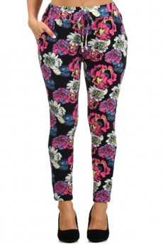 SEMI-HAREM PANTS FLORAL PLUS SIZE #SHMP187