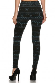 AZTEC JACQUARD SEAMLESS BODYSHAPING FLEECE LEGGING#SJ15FL30