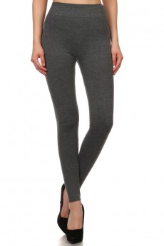 FRENCH TERRY SEAMLESS LEGGINGS #6YD9000A