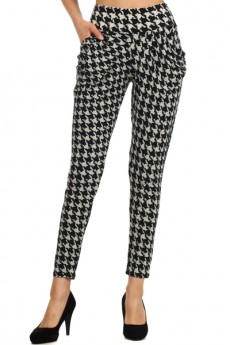 HAREM PANTS HOUNDSTOOTH #SSH029