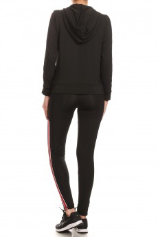 BLACK ACTIVE JACKET & LEGGING SET #ST80504