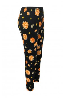 KIDS 2PK HALLOWEEN PRINT BRUSH POLY FLEECE LINED LEGGING (4/5,6/6X)#2KL017-CV22