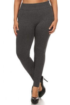 PLUS SIZE FLEECE SEAMLESS LEGGINGS #X6YD9000