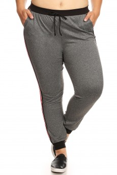PLUS CONTRAST WB & CUFF JOGGER W/ SIDE STRIPE TWILL TAPE#X8TRK09-05