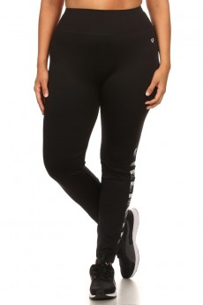 PLUS SIZE  (STRENGTH) ACTIVE WORDING LEGGING #XA6L03-06
