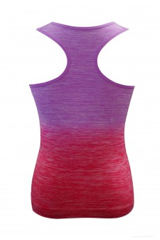 KIDS SEAMLESS OMBRE SPACE DYE ACTIVE TOP (7/8, 10/12) #XK6ATK06
