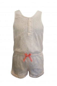 KIDS LACE ROMPER WITH BOW TIE (4/5, 6/6X) #K6RMP09-01