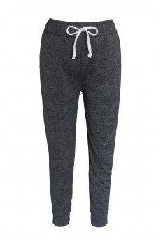 KIDS SHOSPORT HEATHER GREY JOGGER W/ WHITE SIDE PANELS & TIE (7/8, 10/12) #XK6TRK04