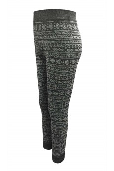 KIDS HEATHER CHARCOAL/WHITE RIB KNITTING FRENCH TERRY SEAMLESS JACQUARD JOGGER (7/8, 10/12) #XK6TRK12-04