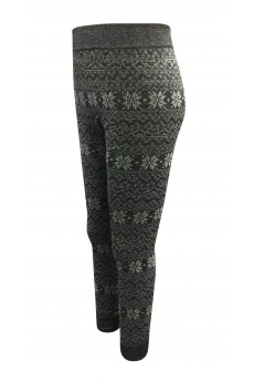 KIDS HEATHER CHARCOAL/WHITE FAIRISLE FRENCH TERRY JACQUARD SEAMLESS JOGGER(4/6X) #K6TRK12-11