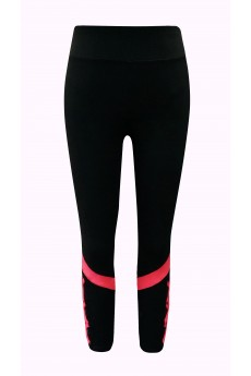 KIDS COLOR BLOCK STRAPPY LEGGING W/ MESH PANELS(4/5,6/6X)#K8L96