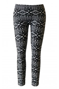 KIDS AZTEC JACQUARD SEAMLESS FLEECE LEGGING(size:7/8,10/12) #XKSJ15FL07