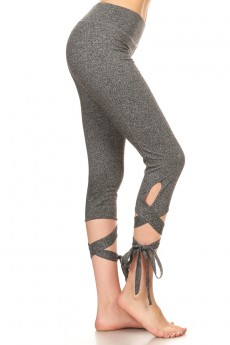 DANCE INSPIRED CAPRIS WITH WRAP AROUND TIE #YD7CP15