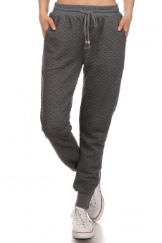 QUILTED JOGGER WITH RIB WB & CUFF #YDTRK04